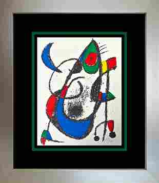 Joan Miro Original Lithograph hand signed by the