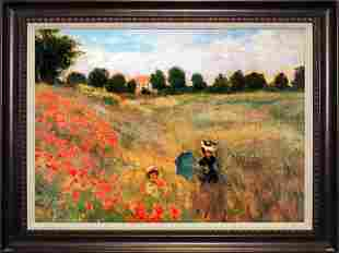 Poppyfield II After Monet. Limited Edition on canvas