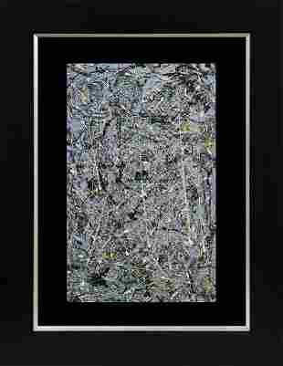 Jackson Pollock Lithograph Abstract