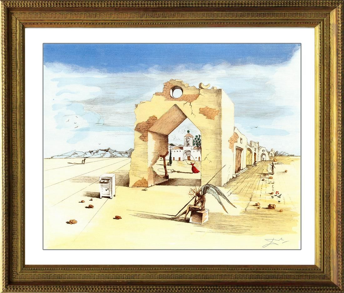 Salvador Dali-Limited Ed Lithograph-Paranoid Village
