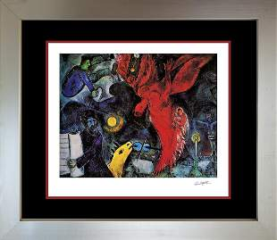 The Falling Angel Marc Chagall Lithograph