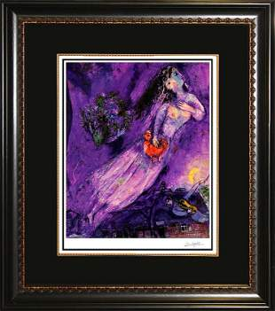 Marc Chagall Two Faces of Hope Lithograph