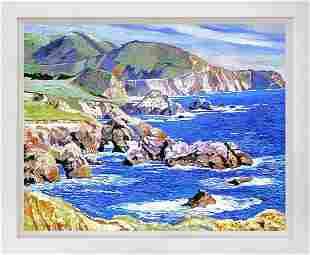 Big Sur Scape Mixed Media Original on canvas David