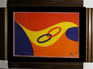 Alexander Calder Original Lithograph Friendship Rings
