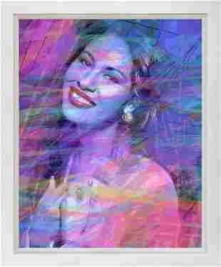 Selena Quintanill A Blue Mixed Media Original on canvas