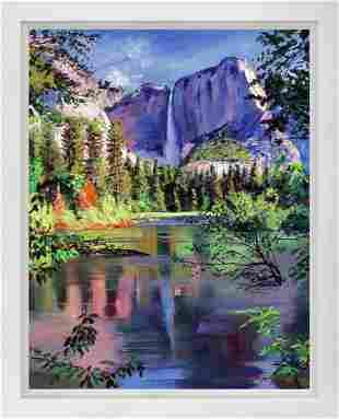 Yosemite Falls Mixed Media Original by David Lloyd
