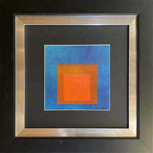 Josef Albers Lithograph from 1972