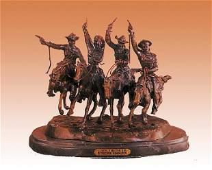 Remington Bronze Sculpture-Coming Thru the Rye