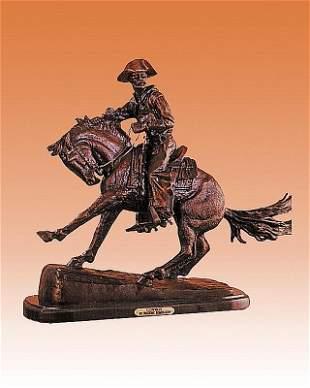 Frederic Remington Arizona Cowboy Bronze Sculpture