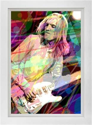 Tom Petty Mixed media original on canvas by David Lloyd