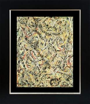 Jackson Pollock Color Plate Lithograph Abstract