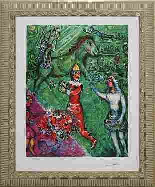 Marc Chagall- Limited Edition Lithograph- Circus