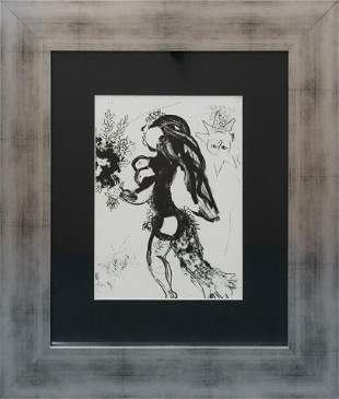 Marc Chagall Lithograph from 1970