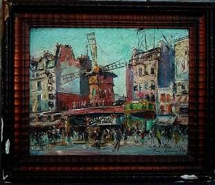 Jean Germain (born 1900) original Moulin Rouge oil