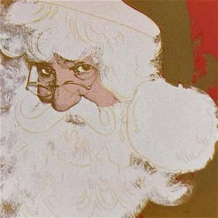 Santa Claus Andy Warhol Original Silkscreen Serigraph