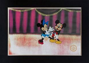 Official Walt Disney Sericel Mickey and Minnie