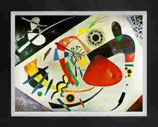 Red Spot Limited Edition on canvas after Kandinsky