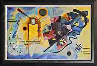 After Kandinsky Collection on canvas Red Blue and