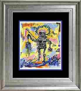 Basquiat Jean Michel Basquiat Color Plate Lithograph