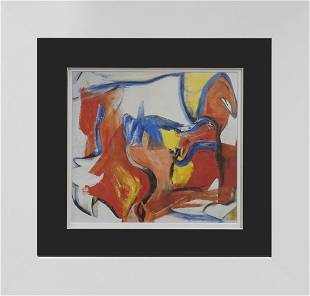 Willem de Kooning Lithograph from 1974