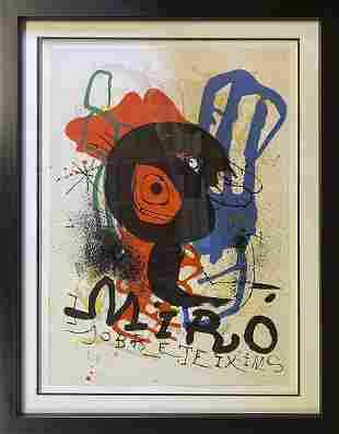 Joan Miro Limited Edition Original Lithograph Hand
