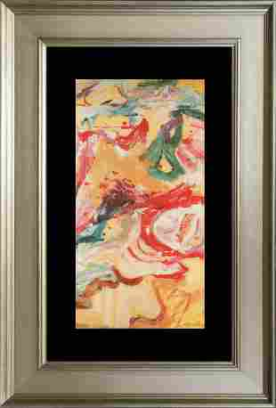 Willem de Kooning Lithograph from 1968