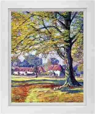 English Village Hand embellished by David Lloyd Glover