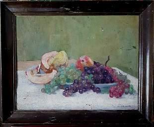 Old Argentina painting Stilllife signed ADAM LUIS