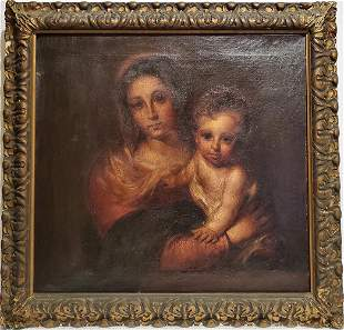 Virgin of the Napkin painted in 1930 by Spanish artist