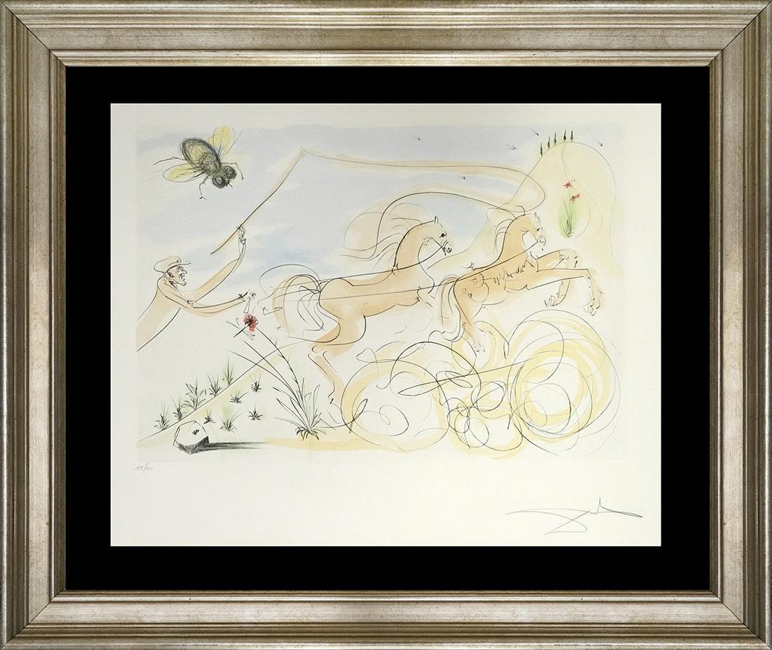 Salvador Dali Original Lithograph Fables Hand signed