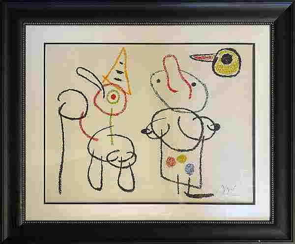 Joan Miro Original Lithograph Hand signed and Numbered