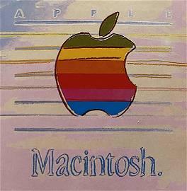 Andy Warhol Original Serigraph Apple Macintosh Artist