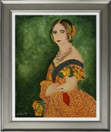 William Verdult Original oil on board with jewels