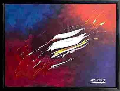 Zinovy Shersher original abstract on canvas Splash
