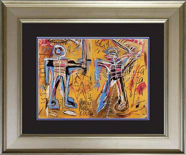 Jean Michel Basquiat Lithograph from 1984