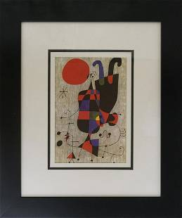 Joan Miro Lithograph froom 1964