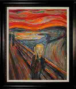 After Edvard Munch Limited Hand Embellished ink on