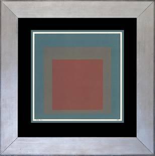 Josef Albers Color Plate lithograph