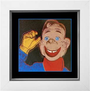 Andy Warhol AP Original Silkscreen Serigraph Howdy