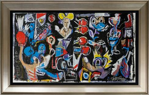 Gino Perez original on canvas Abstract