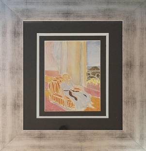 Henri Matisse Color Plate Lithograph from 1968
