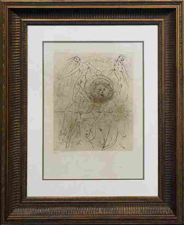 Limited Edition Lithograph by Salvador Dali Hand signed