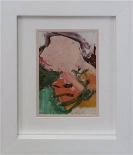 Willem de Kooning Color Plate Lithograph