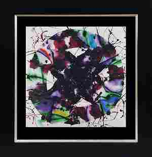 Sam Francis Color Plate Lithograph from 1978