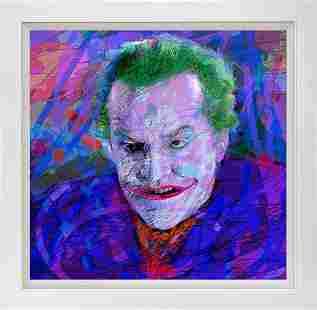 The Joker Batman by David Lloyd Glover Hand Embellished