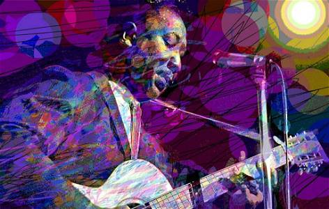 Muddy Waters by David Lloyd Glover Mixed Media Canvas