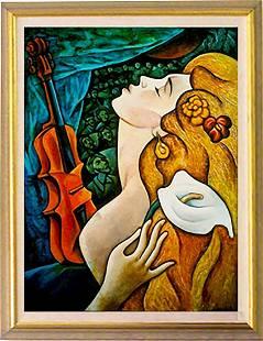 Passion by Zinovy Shersher Mixed Media Canvas
