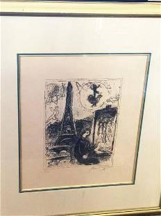 Marc Chagall Eiffel Tower Marc Chagall Original
