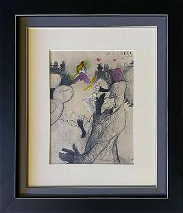 Toulouse Lautrec Color Plate Lithograph from 1970