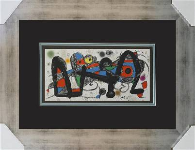 Joan Miro Lithograph from 1971
